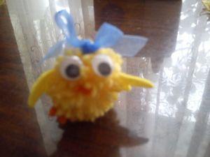 Мастерим с детьми игрушку из помпона Цыпленок. Ярмарка Мастеров - ручная работа, handmade.