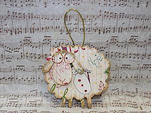 Мастер-класс по декупажу на деревянной поверхности «Новогодняя овечка». Ярмарка Мастеров - ручная работа, handmade.