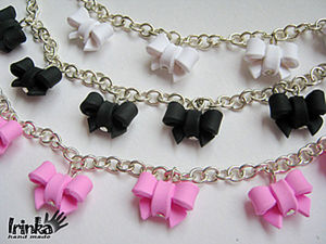 DIY Bows of Polymer Clay for Accessories. Livemaster - handmade