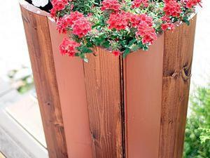 Мастерим большие вазоны из досок «блок-хаус». Ярмарка Мастеров - ручная работа, handmade.