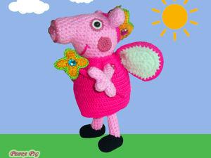 Мастер-класс по вязанию Свинки Пеппы феечки. Ярмарка Мастеров - ручная работа, handmade.