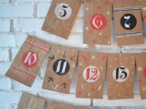 Создаем простой адвент-календарь к Новому году. Ярмарка Мастеров - ручная работа, handmade.