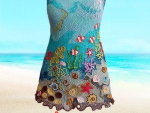 Пляжная туника в ирландском кружеве. Ярмарка Мастеров - ручная работа, handmade.