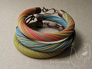 Делаем сам витой браслет из полимерной глины. Ярмарка Мастеров - ручная работа, handmade.