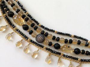 Новый браслет из цитрина, агата и шпинели  «Клеопатра». Ярмарка Мастеров - ручная работа, handmade.