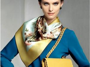С чем носить шелковый платок. Ярмарка Мастеров - ручная работа, handmade.