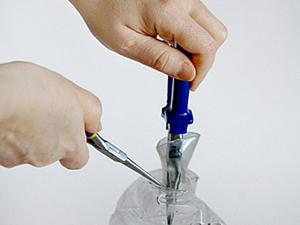 «Мятая ваза» из пластиковой бутылки: мастер-класс. Ярмарка Мастеров - ручная работа, handmade.