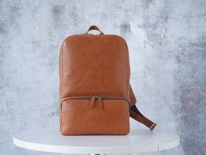 Видео обзор мужского кожаного рюкзака «Roy». Ярмарка Мастеров - ручная работа, handmade.