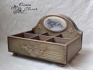 "Короб для чая ""Пармская фиалка"". Ярмарка Мастеров - ручная работа, handmade."