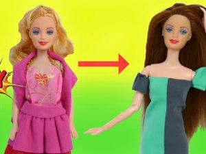 Апгрейд куклы: меняем тело на шарнирное и перепрошиваем волосы. Ярмарка Мастеров - ручная работа, handmade.