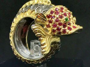 Золотая рыбка (кольцо). Ярмарка Мастеров - ручная работа, handmade.