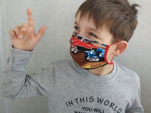 Стоп-вирус или детская маска своими руками. Ярмарка Мастеров - ручная работа, handmade.