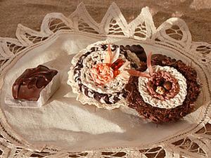 """Пушистые """"коврики"""" - элементы текстильных брошей. Ярмарка Мастеров - ручная работа, handmade."""
