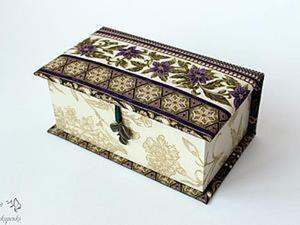 Создаем чудесную шкатулку для украшений. Ярмарка Мастеров - ручная работа, handmade.