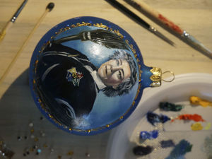Painting Christmas Ball: Madame Hooch from Harry Potter Books. Livemaster - handmade
