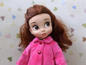Шьем пальто для кукол Disney Animators и Galoob Baby Face. Ярмарка Мастеров - ручная работа, handmade.