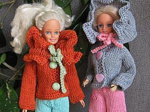 Курточка с воротником-капюшоном для барби, для интерьерных кукол и для тильд. Ярмарка Мастеров - ручная работа, handmade.