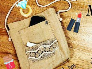 Шьем сумочку из хлопка. Ярмарка Мастеров - ручная работа, handmade.