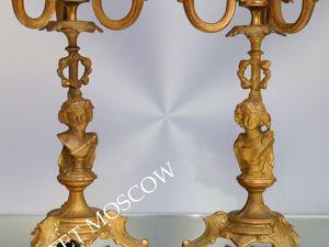Подсвечник антикварный бронза латунь золото Франция 12. Ярмарка Мастеров - ручная работа, handmade.