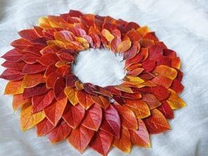 Мастер-класс по изготовлению венка из осенних листьев. Ярмарка Мастеров - ручная работа, handmade.