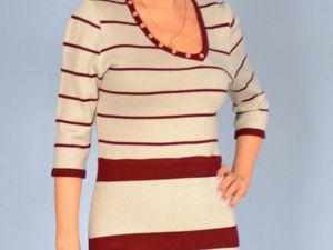 Аукцион на вязаное  платье .Старт 2500 руб!. Ярмарка Мастеров - ручная работа, handmade.