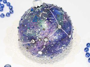 Декорируем елочный шар. Созвездие Тельца (Быка). Ярмарка Мастеров - ручная работа, handmade.