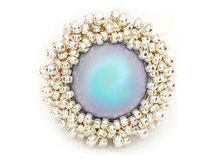 Creating ''Bridesmaid'' Ring from Beads and Swarovski Pearls. Livemaster - handmade