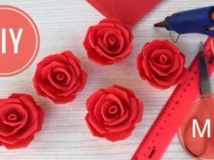 Делаем розы из фоамирана для украшений. Ярмарка Мастеров - ручная работа, handmade.