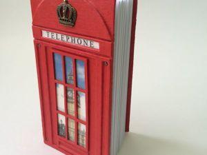 Мастер-класс по созданию блокнота «Лондонская телефонная будка». Ярмарка Мастеров - ручная работа, handmade.