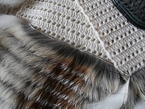Меховой жилет с нашивкой меха лисы (полос). Часть 2.. Ярмарка Мастеров - ручная работа, handmade.