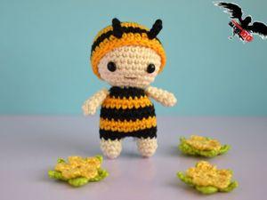 Вяжем крючком игрушку амигуруми: пчёлку. Ярмарка Мастеров - ручная работа, handmade.