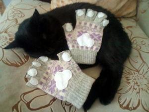 Перчатки лапки  без пальцев. Ярмарка Мастеров - ручная работа, handmade.
