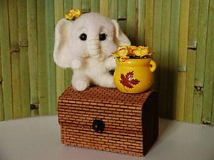Мастер-класс: маленький слонёнок из шерсти. Ярмарка Мастеров - ручная работа, handmade.