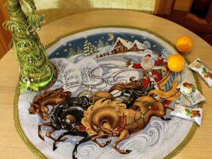 Есть ли скатерка с Дедом Морозом?. Ярмарка Мастеров - ручная работа, handmade.