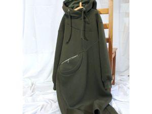 Платье-худи из футера с начесом. Ярмарка Мастеров - ручная работа, handmade.