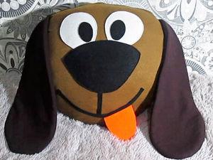 Подушка-собачка из старых вещей: видео мастер-класс. Ярмарка Мастеров - ручная работа, handmade.