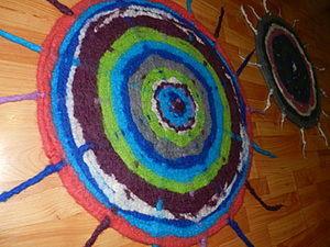 Валяем деревенский коврик. Ярмарка Мастеров - ручная работа, handmade.