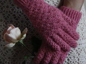 Вязаные перчатки. Ярмарка Мастеров - ручная работа, handmade.