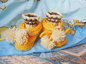 Вязание пинеток с носочками-обманками крючком и спицами. Ярмарка Мастеров - ручная работа, handmade.