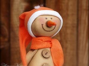 Кофейный Снеговичок.. Ярмарка Мастеров - ручная работа, handmade.