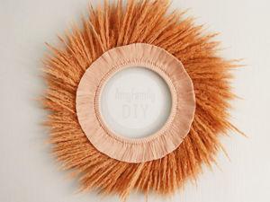 Делаем панно для декора на стену из сухих трав и ниток. Ярмарка Мастеров - ручная работа, handmade.