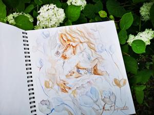 Теплый август: новая иллюстрация и открытки прованс. Ярмарка Мастеров - ручная работа, handmade.