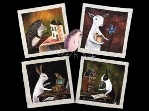 Ауецион на набор Купонов  «Лесные жители»  4 шт. Ярмарка Мастеров - ручная работа, handmade.