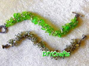 Мастерим браслет из бисера и каменной крошки. Ярмарка Мастеров - ручная работа, handmade.