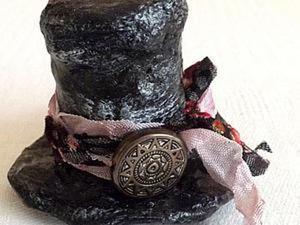 Мастер класс: шляпка для игрушки из ватного папье-маше. Ярмарка Мастеров - ручная работа, handmade.
