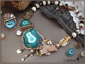 How to Make a Copper Jewellery Set for Ivan Kupala Night. Livemaster - handmade