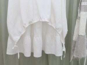 Новинка. Белая  льняная юбка в стиле бохо. Ярмарка Мастеров - ручная работа, handmade.