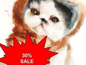 Теплые коты со скидкой 30 %!!!. Ярмарка Мастеров - ручная работа, handmade.