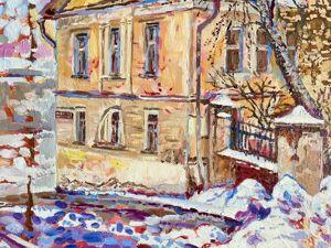 Вспоминая старую Москву. Интерьерная картина. Ярмарка Мастеров - ручная работа, handmade.