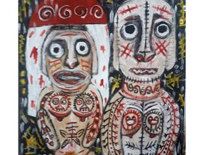 Свадьба истуканов на острове Пасхи. Ярмарка Мастеров - ручная работа, handmade.
